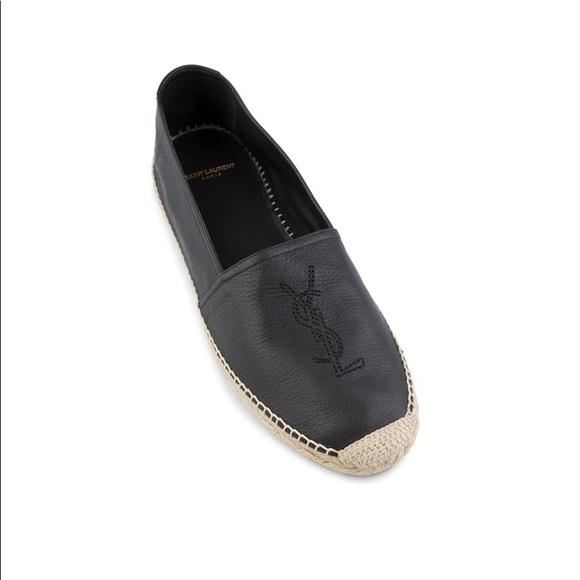 058ef24022f Saint Laurent Shoes | Ysl Embroider Logo Espadrilles Black | Poshmark